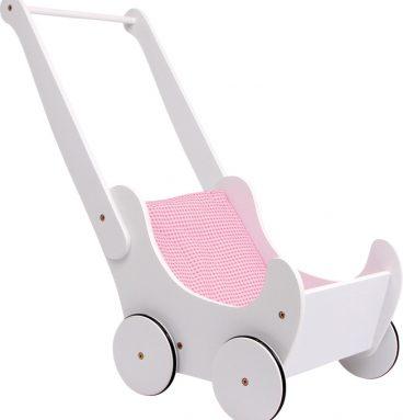Medinis lėlės vežimėlis