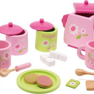 Vaikiškas rožinis arbatos rinkinys