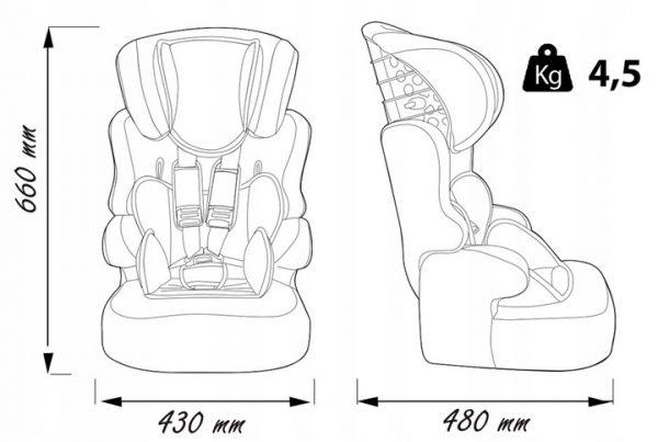 Automobilinė kėdutė 9-36 kg