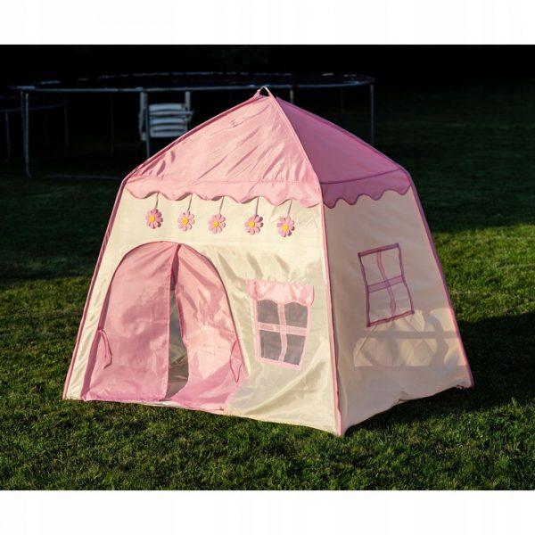 rožinis palapinės namelis