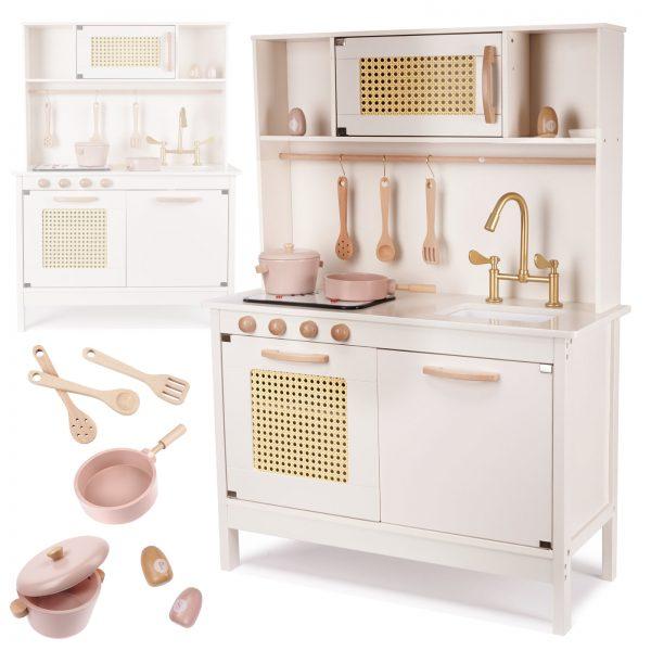 Medinė virtuvėlė retro stiliaus