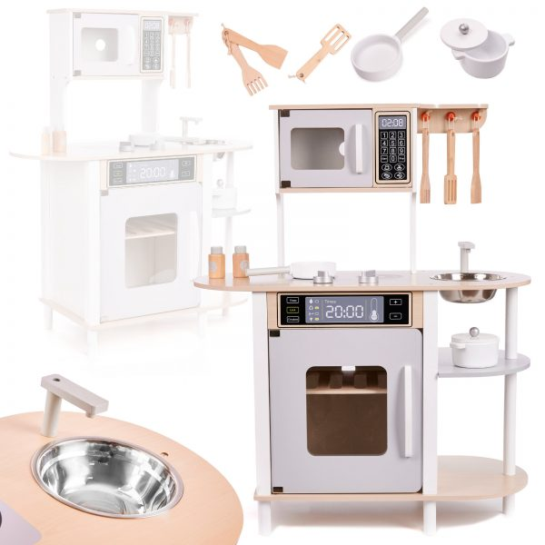 Medinė virtuvėlė su aksesuarais