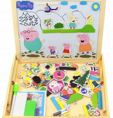 Medinė magnetinė lenta Peppa Pig